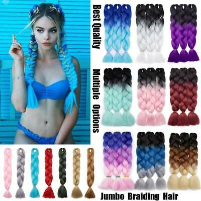 HOT 24 inches DIY Jumbo Braids Hair Extensions Fashion Blue Green Hair Extension