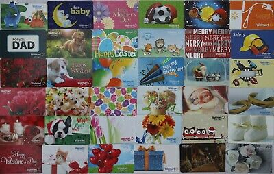 36 Walmart Gift Card All Different No Value Empty Collectible Lot