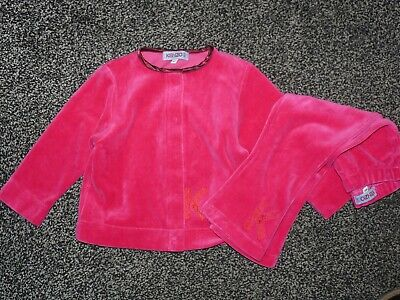 Kenzo Girls Tracksuit Velour Suit Top & Trousers Age 2 Velvet Pretty