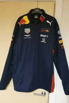 Aston Martin Red Bull Racing Men's Team F1 Softshell Jacket 2019, Extra Large