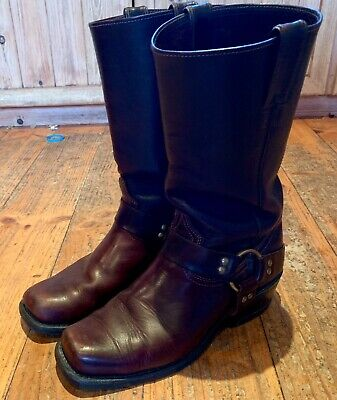 Mens Cowboy Boulet Boots  Brown Leather Size US 8 Used
