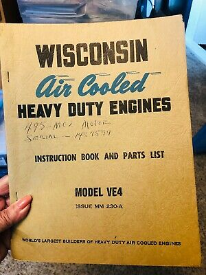 Wisconsin Air Cooled Heavy Duty Engines Instruction Manual Model Ve4