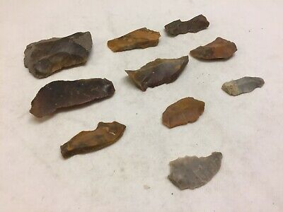 Danish Neolithic Flint Stone Age Tools Original Ancient Artifacts Lot Denmark