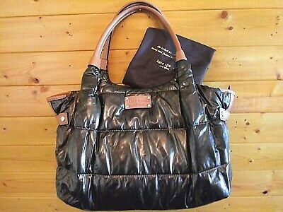 Kate Spade New York Stevie Bronze Quilted Nylon Leather Large Satchel Tote Bag