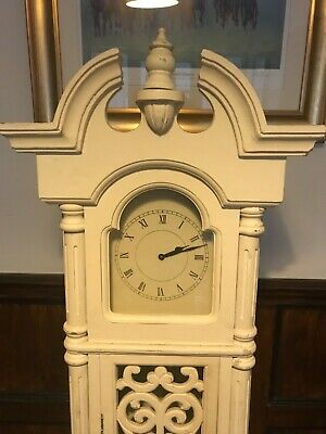 vintage chabby chic ornate grand father clock working