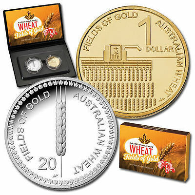 2012 Australian  Wheat Fields of Gold 2 Coin Proof Set