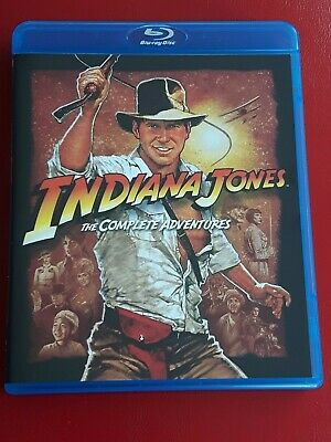 *Indiana Jones*The Complete Adventures*4 Blu-Rays*Box*Abenteuer*Harrison Ford*