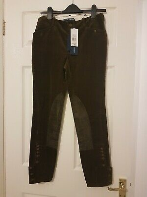 bnwt ladies RALPH LAUREN country brown woven stretch trousers size 8 cost £99