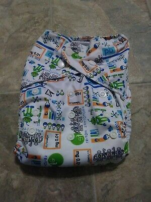 Unbranded Cloth Diaper Science Themed Pocket Diaper With 1 Insert One Size