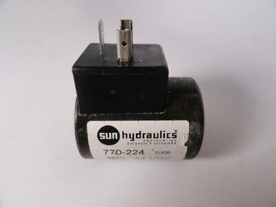 Sun Hydraulics 770-224 / 820643 Form A Connector 24 Volt DC Coil w/ TVS Diode