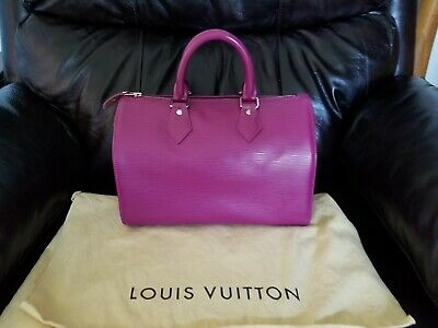 Authentic Louis Vuitton epi speedy 25 rare grenade looks brand n*w made France