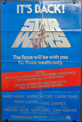 Star Wars R1979 Orig 27X41 Movie Poster George Lucas Mark Hamill Harrison Ford