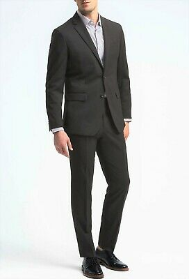 BANANA REPUBLIC Gray Modern Fit Flat Front Slim Suit 38R 32Wx30L