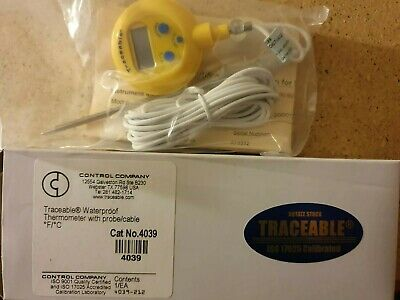 Traceable Waterproof Thermometer With Probe/cable