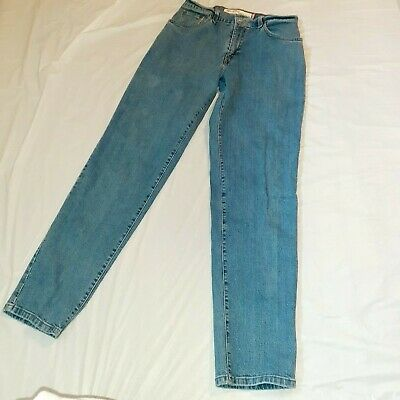Levis 550 Womens Jeans Size 8 Long Relaxed and Tapered Fit Light Wash High Waist