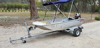 Aluminium boat and trailer