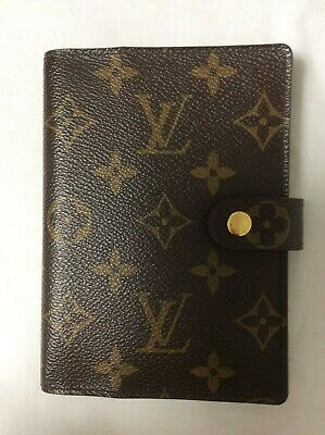 Louis Vuitton Monogram Agenda PM Day Planner Notebook Cover Case R20004 Brown