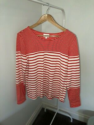 SEED HERITAGE Jumper Ruby Red Stipe SIZE L