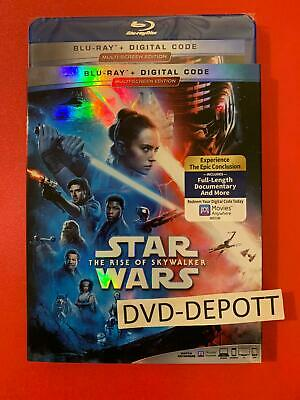 Star Wars The Rise of Skywalker Blu-ray+Digital HD Slipcover MULTISCREEN 2 DISCS