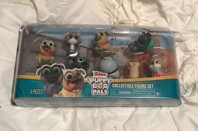 """Puppy Dog Pals 8 Pieced Collectible Figures Disney Junior 2"""" Tall Characters"""