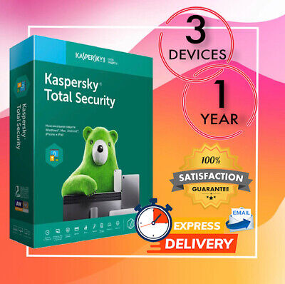 Kaspersky Total Security Antivirus 3 Device 1 Year 2020 - Email License Code