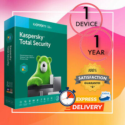 Kaspersky Total Security Antivirus 1 Device 1 Year 2020 - Email License Code