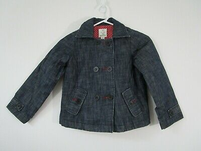 Country Road Girl's Size 5 Padded Pea Coat | Lightweight Denim Outer