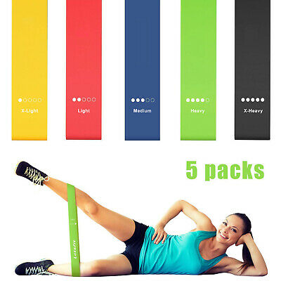 Resistance Exercise Loop Bands Home Gym Fitness Premium Natural Latex
