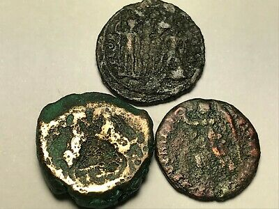 ANCIENT AUTH. 3 XRARE$ Coins; 1 GREEK, ZEUS 148 BC, 2 ROMAN 307 AD, VICTORY & LG
