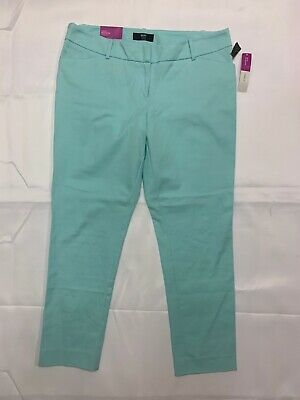 Mossimo Teal Ankle Pants Mid Rise Stretch Extensible Sz 14 NWT