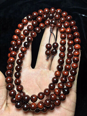 China precious wood Small Leaf Sandalwood 108 buddha Bead Bracelet Necklace AB1S
