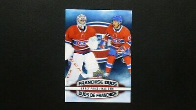 2019-20 Upper Deck Tim Hortons - Franchise Duos D-3  C.PRICE / M.DOMI  Canadiens
