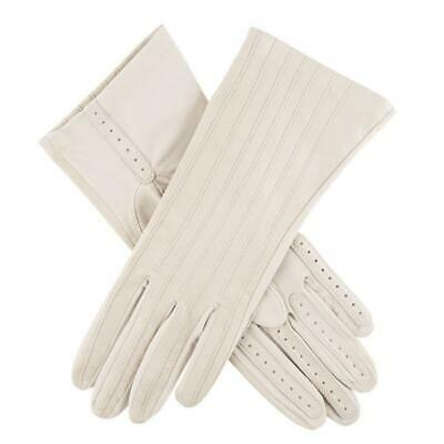 Dents Women's Equestrian Riding Gloves Leather & Silk Lining Horse Riding - C...