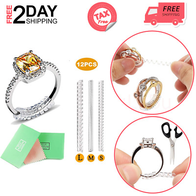 6 pcs Universal Ring Size Adjuster Reducer Sizer STYLE Invisible Resizer Guard