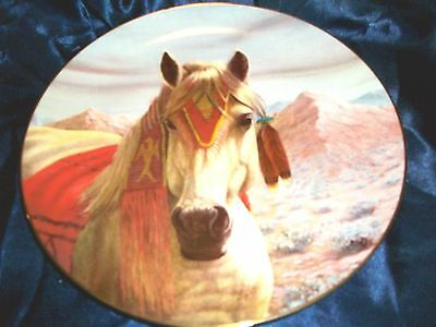 The Arapaho Collectors Plate by Gregory Perillo-Tribal Ponies Series