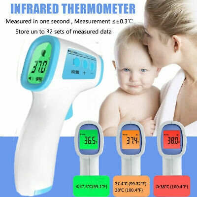 No Touch Infrared Digital Forehead Thermometer Baby Adult Body Temperature Gun S
