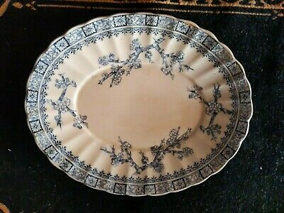 Antique THORN K & C plate , Keeling & Co Thorn Blue And White Platter