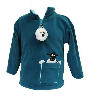 Ramblers Childrens Turquoise Green Sheep Fleece Jumper With Matching Keyring