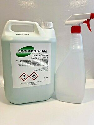 Concentrated virucidal disinfectant Bacteria MRSA + 750ml Clear Spray Bottle