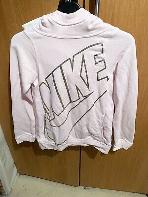 Girls Nike Pink Hoodie Jumper Size M Age 10-12
