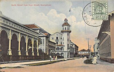 British Guiana GUYANA Georgetown - North Street from High Street - Publ. The Arg
