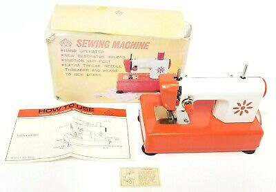 Vintage Crystal Kid's Hand Operated Sewing Machine Model 6001 w/ Box & Manual