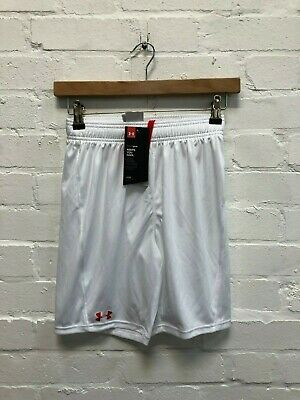 Under Armour UA Boy's Challenger Knit Shorts - White - New