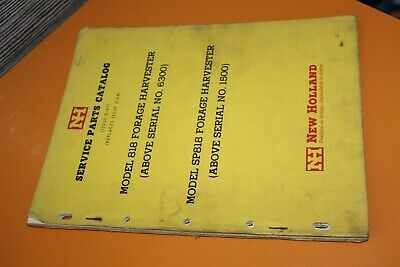 (229A) Service parts catalog NEW HOLLAND 818 forage harvester