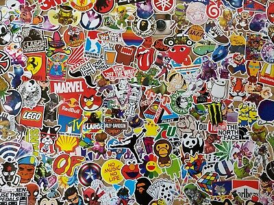 25 Skateboard Stickers - Sticker Pack Decal Bomb Hypebeast Laptop - No Repeats