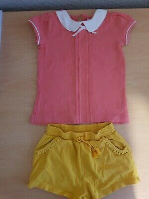 Girls Clothes Set 2-3 years - shorts - shirt - denim dungarees