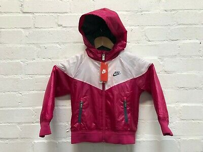 Nike Kid's Hooded Padded Jacket - Pink/White - New