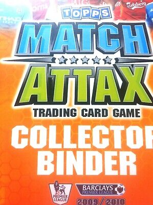 Match Attax 2009/10  Binder Almost Complete