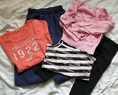 Girls Bundle 13-14, 15-16 Years Hollister D&G Next tops and jogging bottoms
