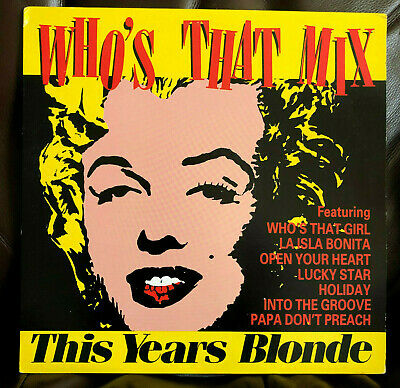 """MADONNA WHO'S THAT MIX THIS YEARS BLONDE 12"""" RECORD 1987 CANADA 1ST ED. OOP girl"""